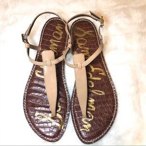 Sam Edelman Tan Gigi Thong Sandals